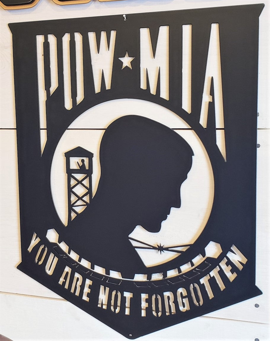 "POW MIA Emblem 20"" Steel Sign"