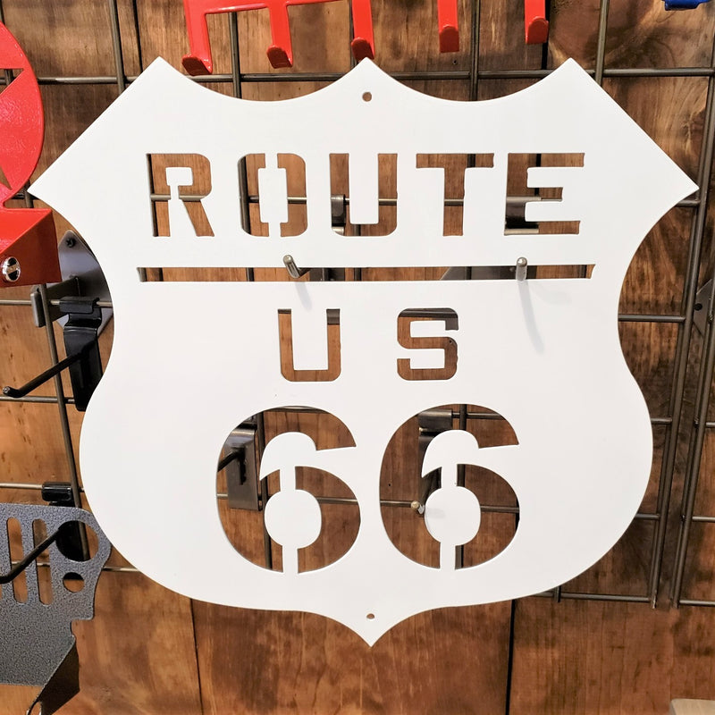 ROUTE 66 HIGHWAY STEEL SIGN