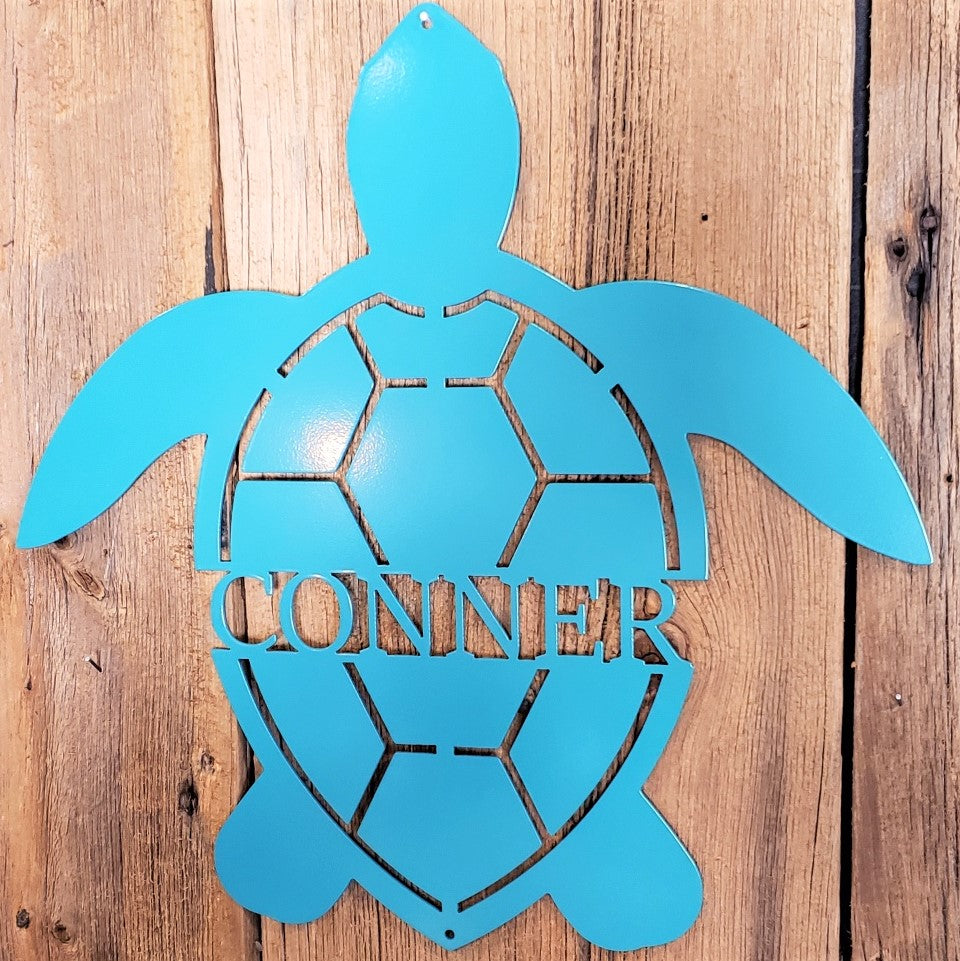Sea Turtle Name Sign