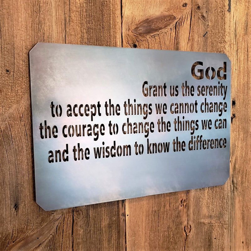 image of Serenity Prayer metal sign