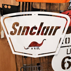 image of SINCLAIR Gas and Oil METAL SIGN with Dino.