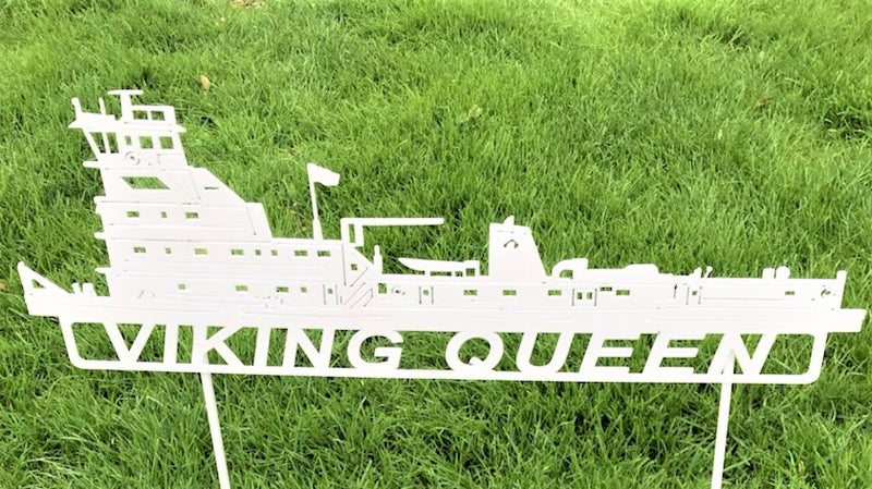 image of Viking Queen Artco Towboat Steel Sign