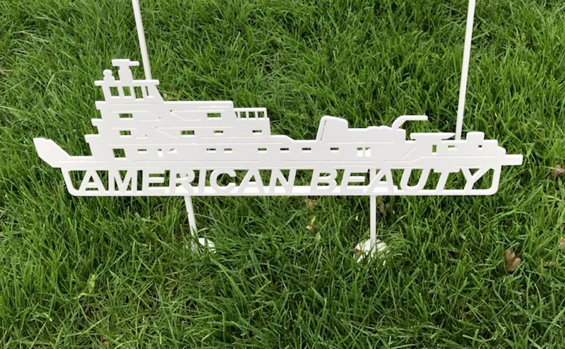 image of American Beauty Artco Towboat Steel Sign
