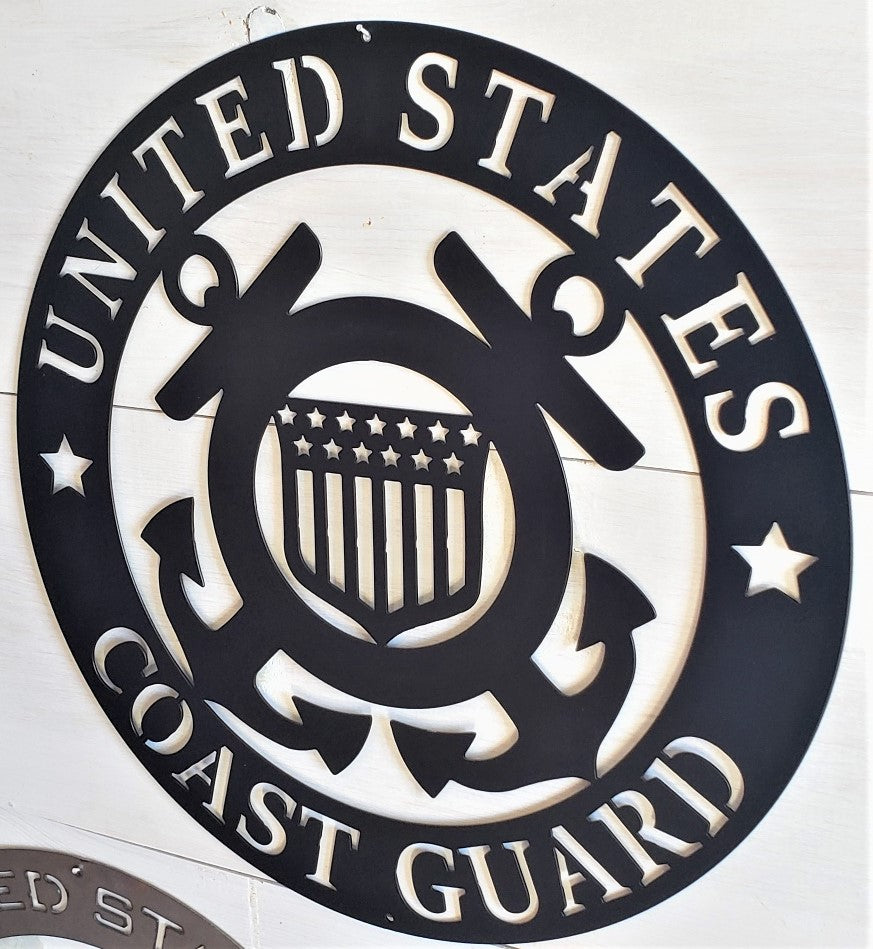 "U.S. Coast Guard Emblem 20"" Steel Sign"