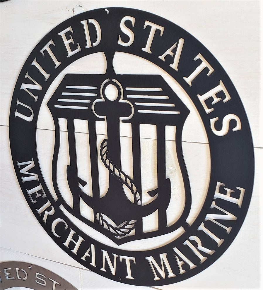 "U.S. Merchant Marine Emblem 20"" Steel Sign"