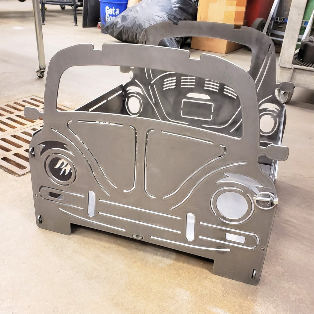 image of VW Bug Portable Collapsible Fire Pit Grill