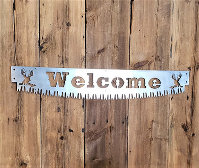 Crosscut Saw Blade Welcome Sign