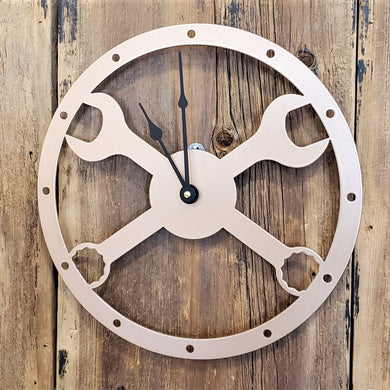 image of Crossed Wrenches Custom Clock