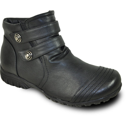 Vangelo OY7432 - Women Ankle Light Winter Fur Casual Boot