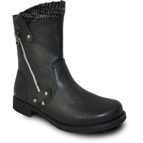 Vangelo OY7436 - Women Ankle Light Winter Fur Casual Boot