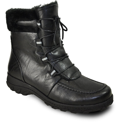 Vangelo SD7526 - Women Ankle Fur-Lined Boot
