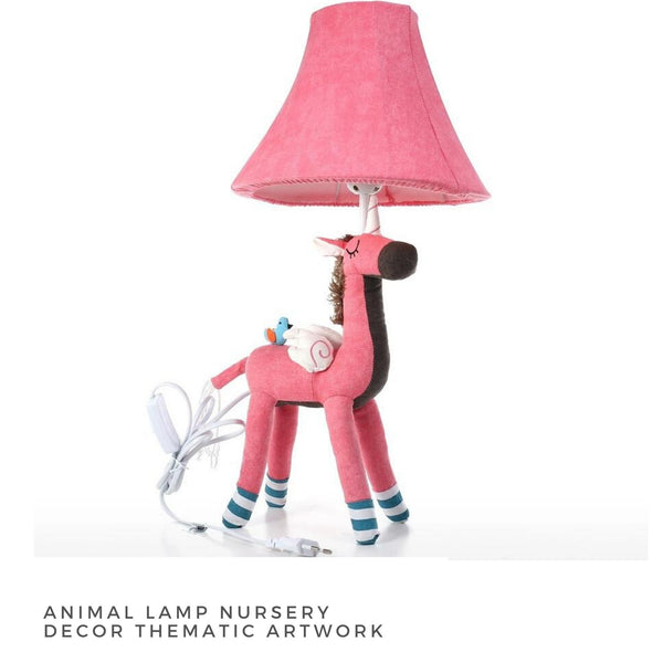 Aesthetic Animal Lamps Nursery Decor with Cute Thematic Artwork