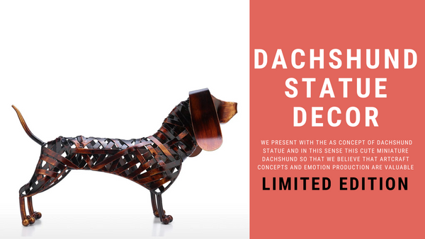Dachshund Dog Statue: Purity of Emotional Intensity