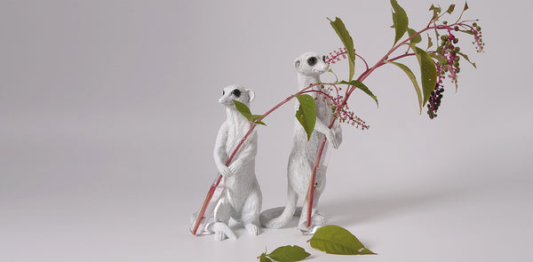 Meerkat Christmas Ornaments Decorative statue and single stem vase
