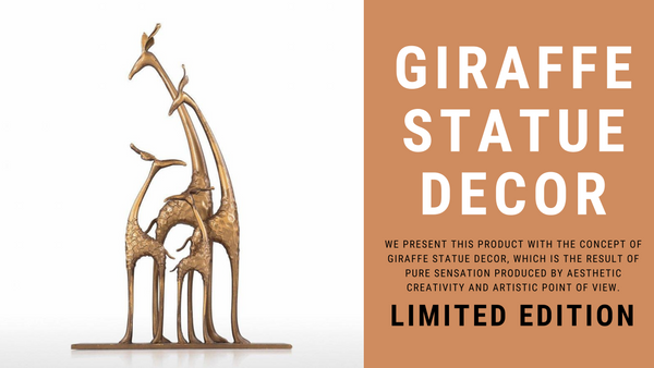 Giraffe Statue Home Decor