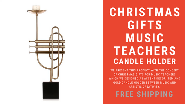 Music Teacher Gifts Gold Candle Holder Romantic Atmosphere of Music and Art in the Home Accent Decor