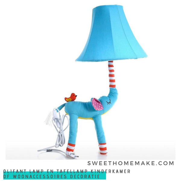 Olifant Lamp en Tafellamp Kinderkamer of Woonaccessoires Decoratie