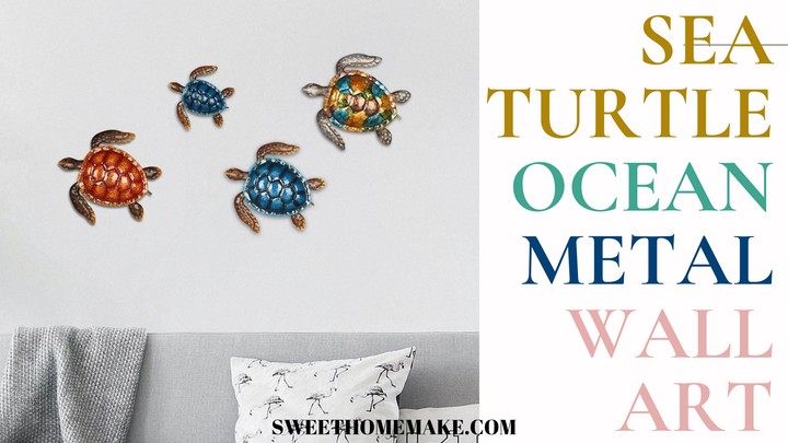 Sea Turtle Wall Art by Metal Wall Decor