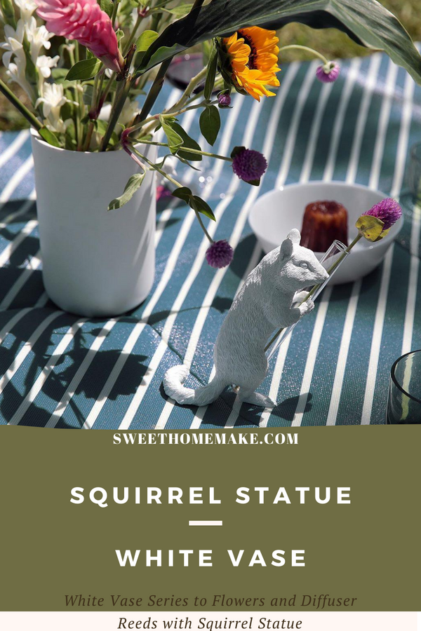 Squirrel Statue Vase comes from nature for Dried Flowers-Diffuser Reeds