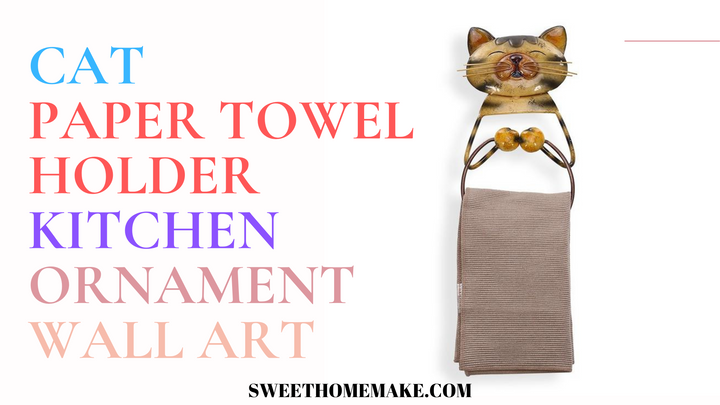 Wall Mount Paper Towel Holder by Cat Ornaments Metal Wall Art