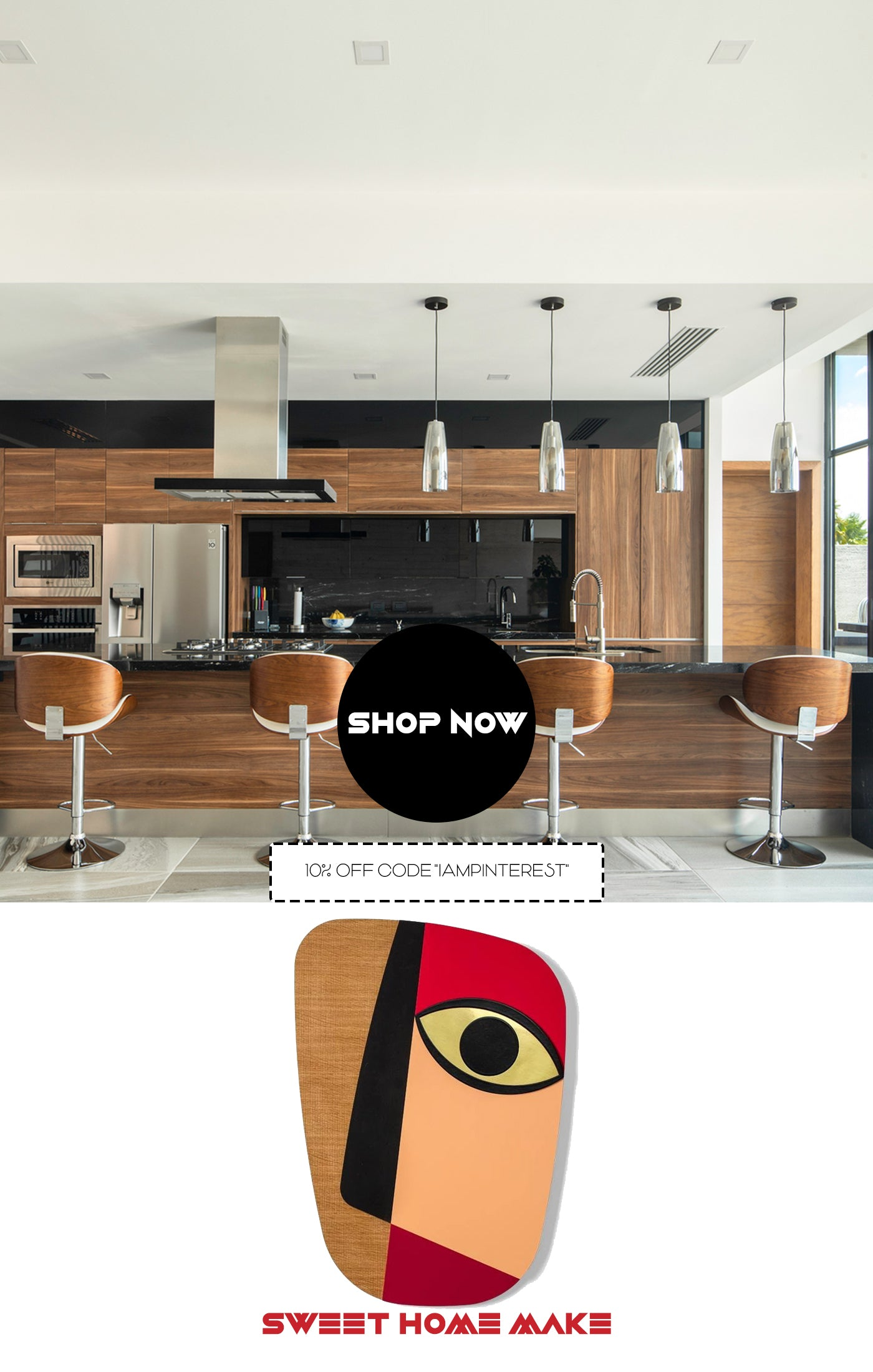 Abstract Kitchen Wall Decor for Modern Interior Design