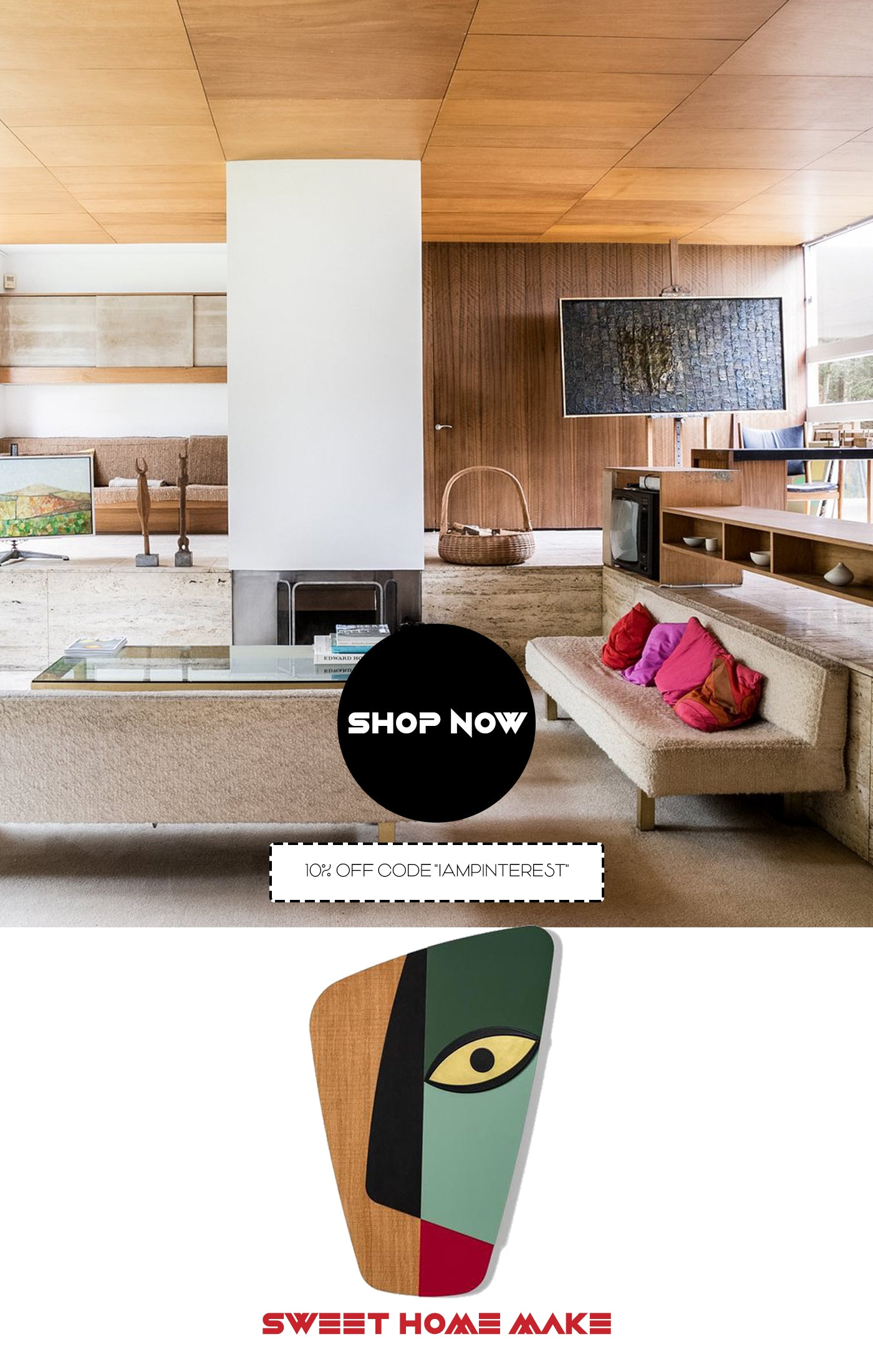 Abstract Wall Art with Woodworking for Living Room Wall Decor