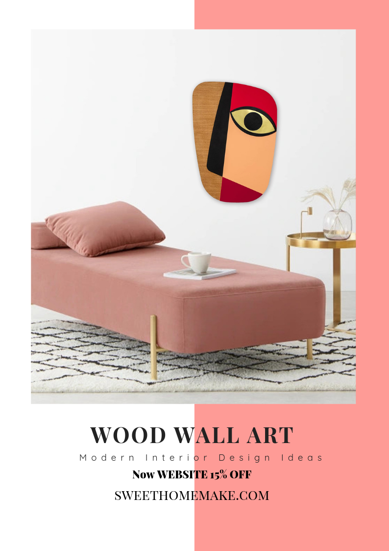 Abstract Wall Decor with Wood