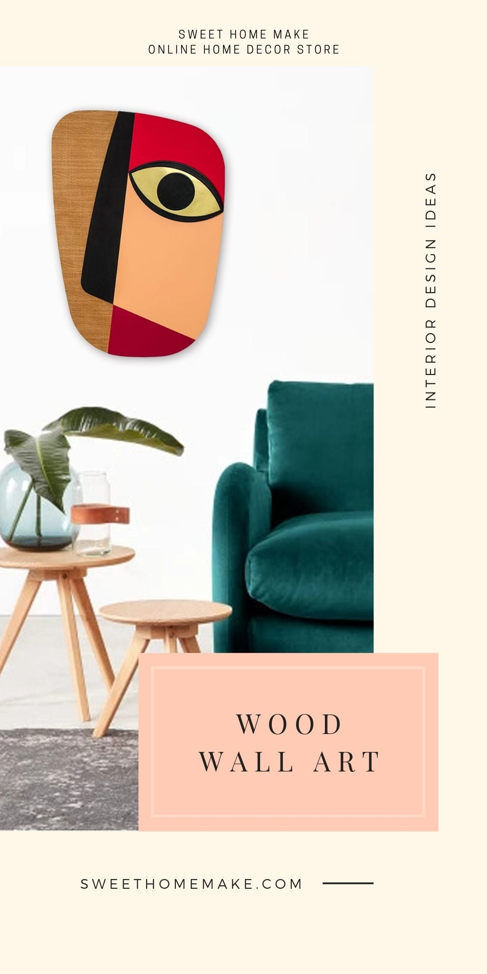 Abstract Wall Decor with Wood Wall Art