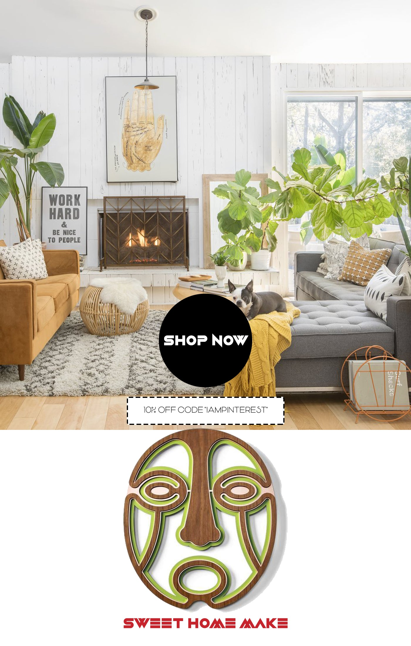 Abstract and Neutral Wall Art For Cozy Living Room Wall Decor