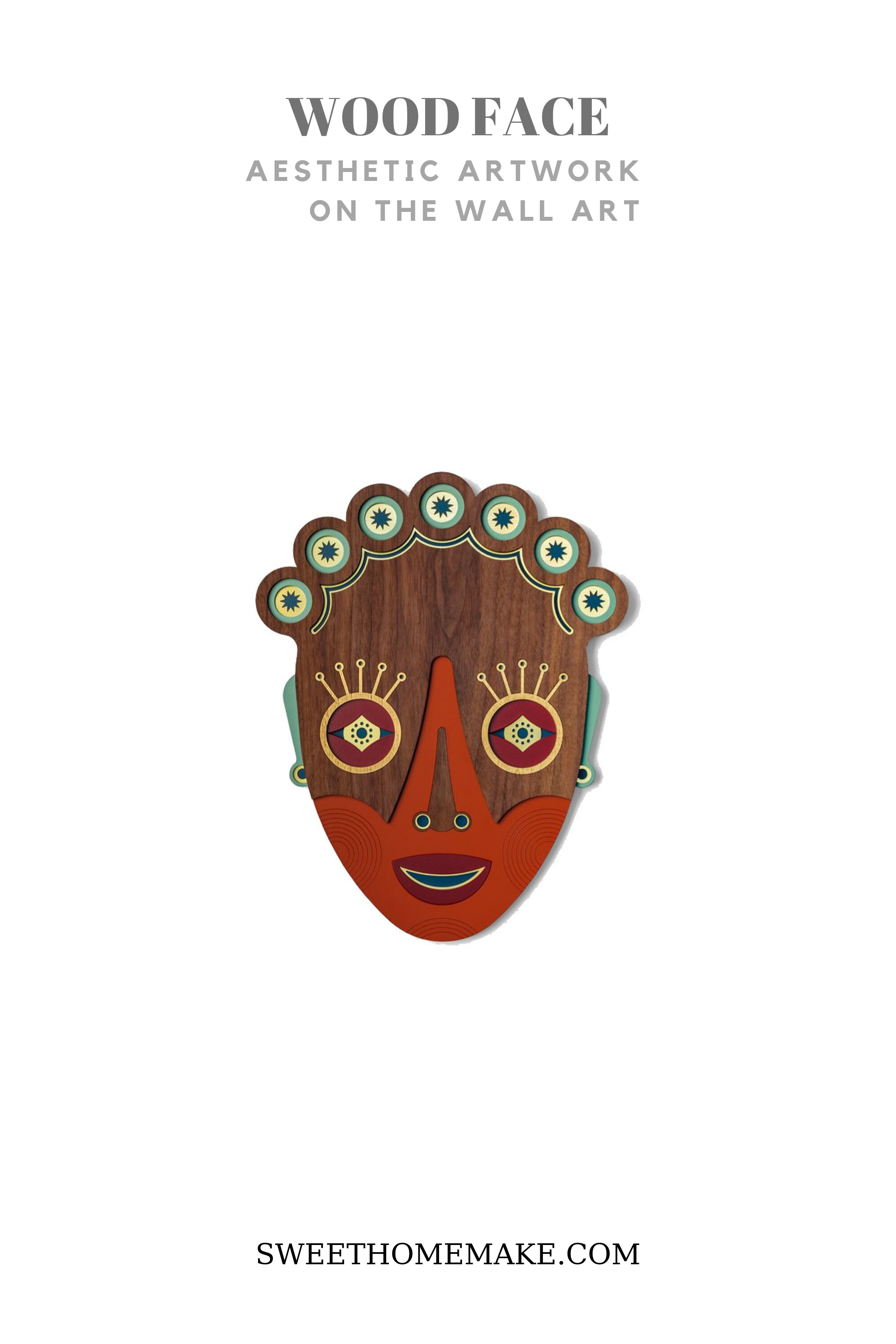 African Masks by Wood Wall Art