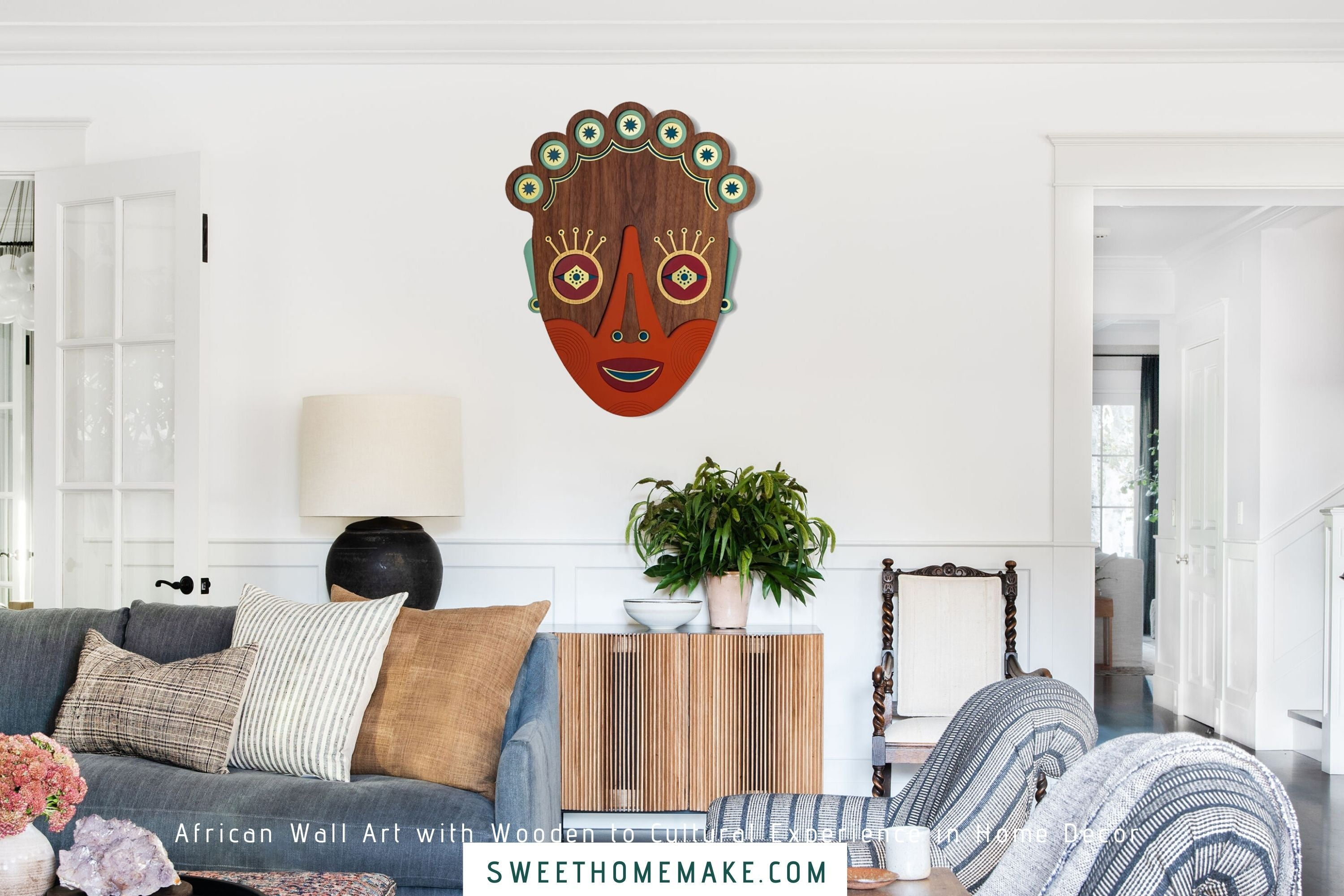 Afrocentric and African Wall Art with Wooden to Cultural Experience in Home Decor
