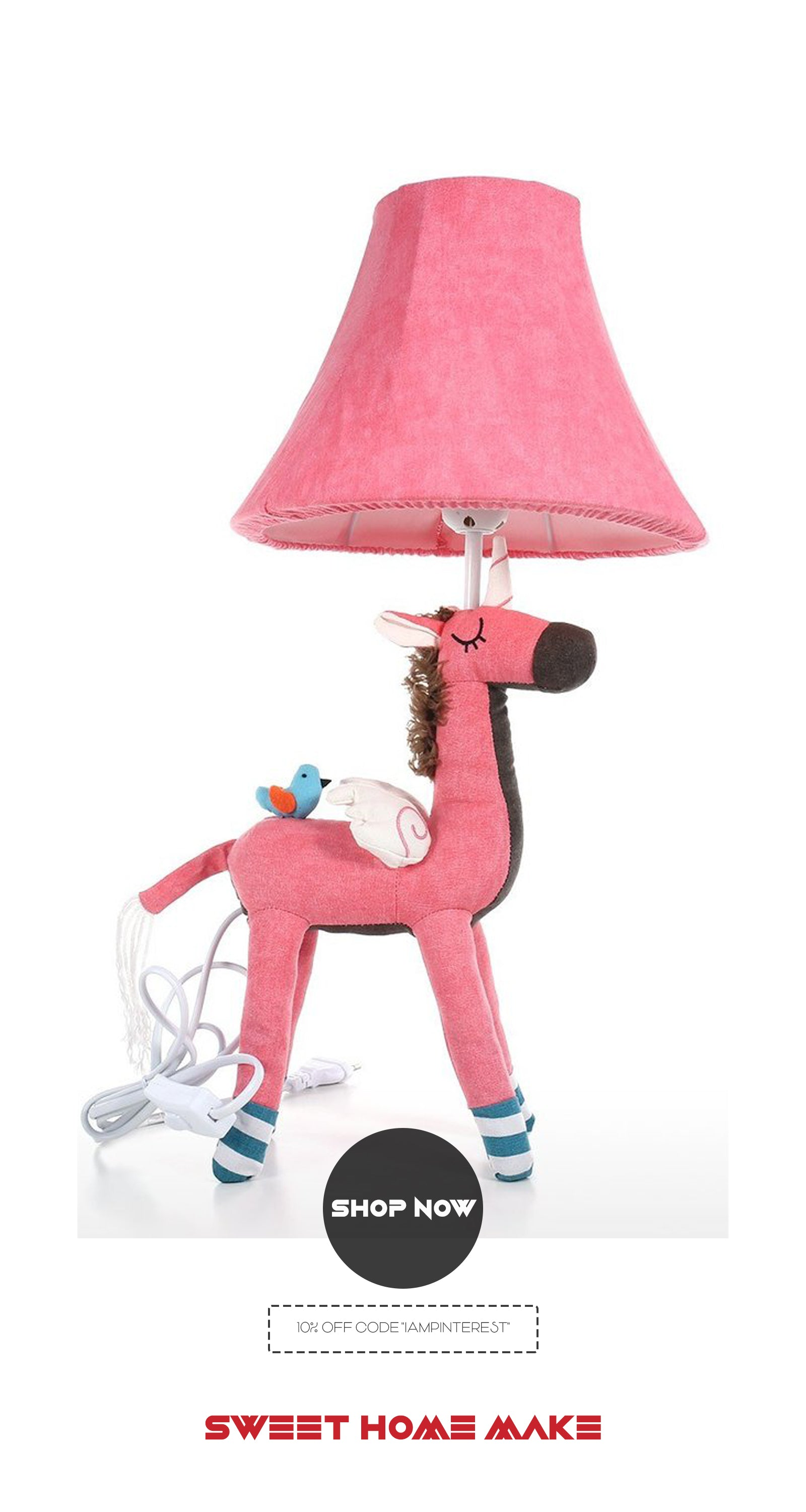 Bedside Lamp with Unicorn Toy For Kids and Nursery Room Ideas