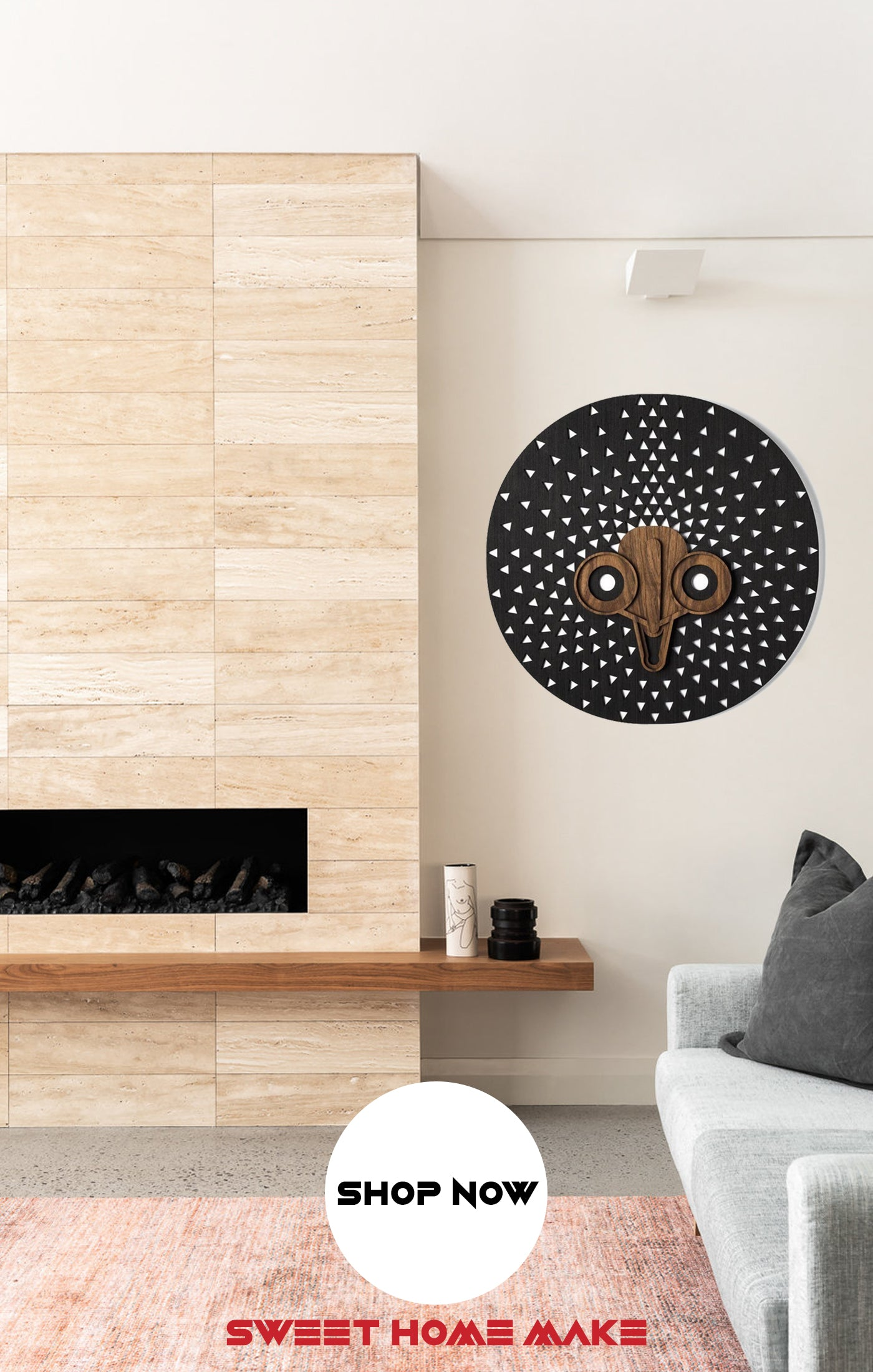 Black and White Wall Art at the Living Room Wall Decor