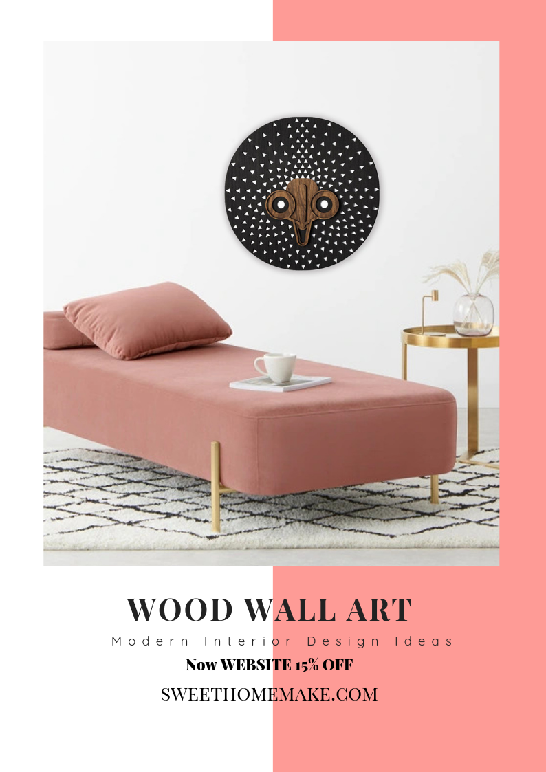 Black and White Wall Art with Wood