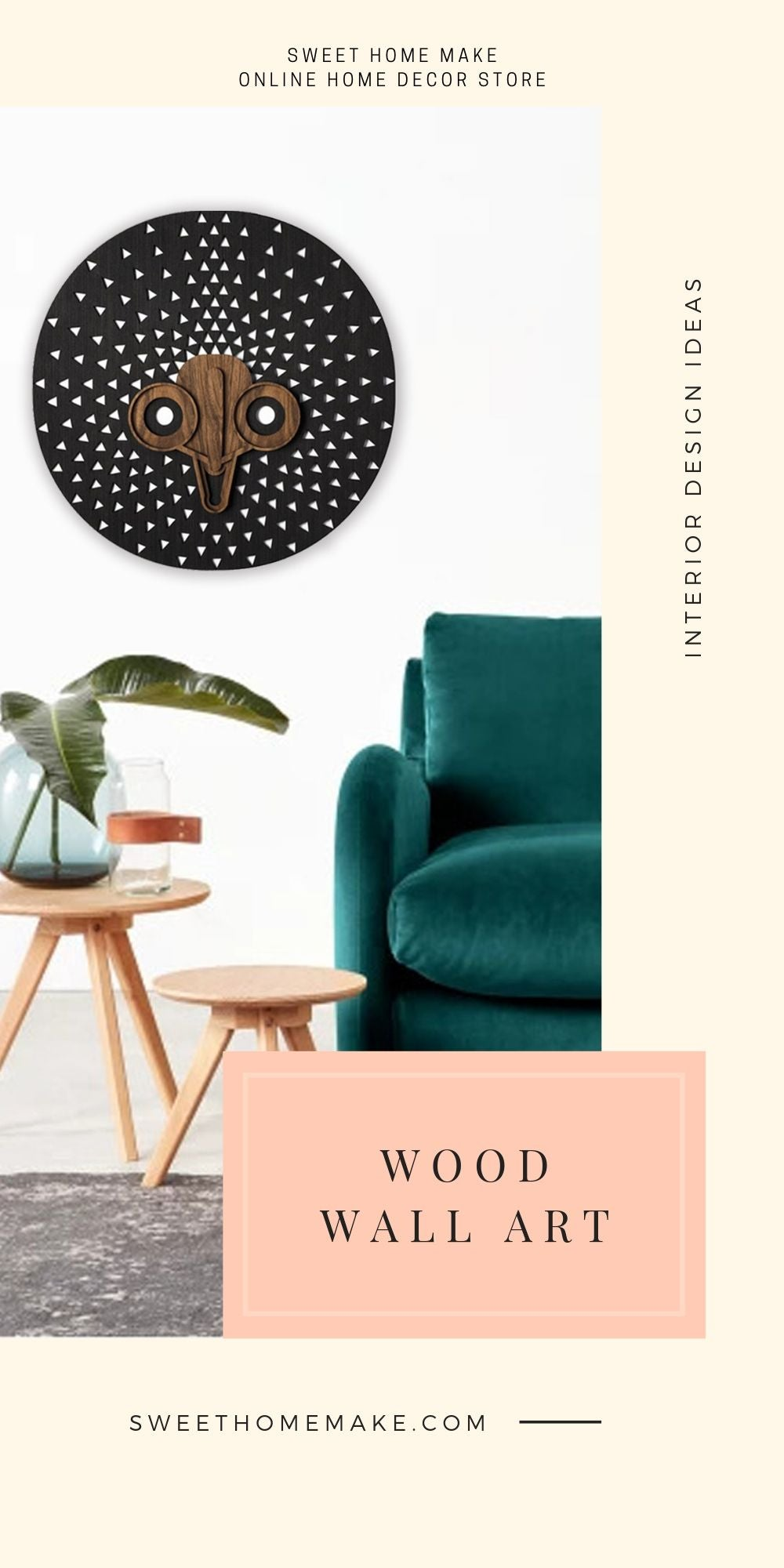 Black and White Wall Decor with Wood Wall Art