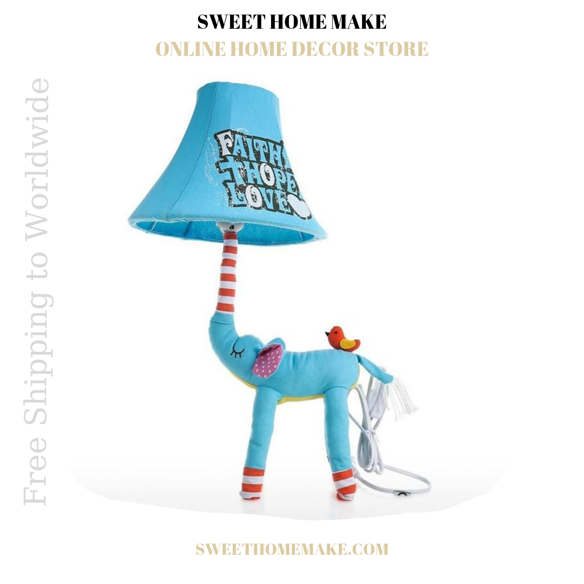 Blue Nursery Lamp For Night Light and Table Lamp