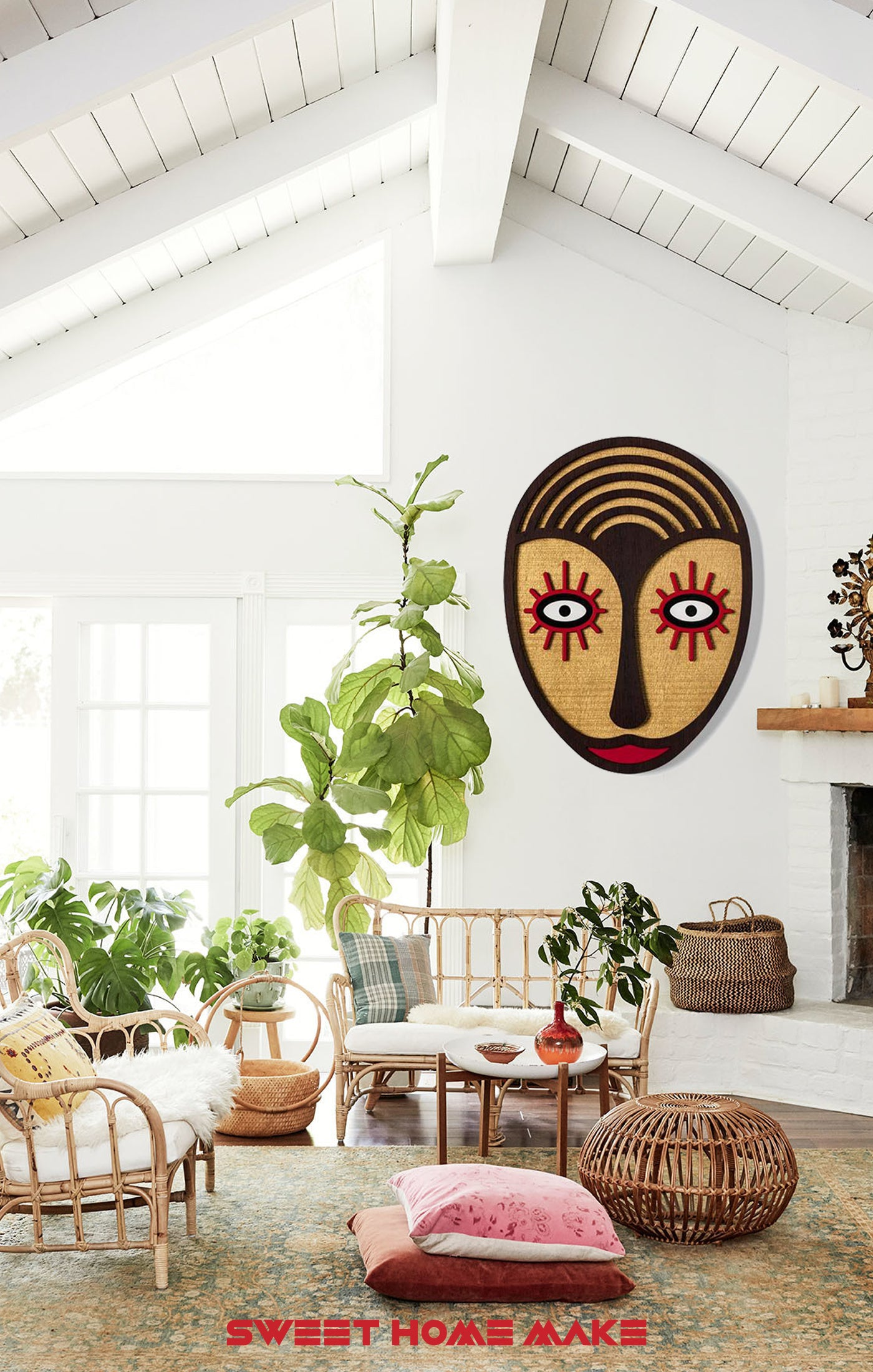 Boho and Chic Wall Art at the Boho Living Room Wall Decor