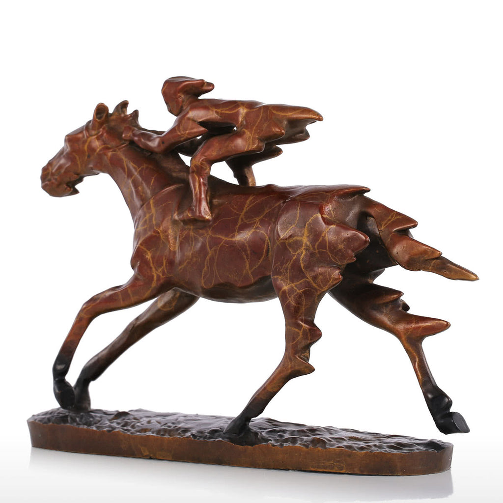 Bronze Horse Statue with Equestrian