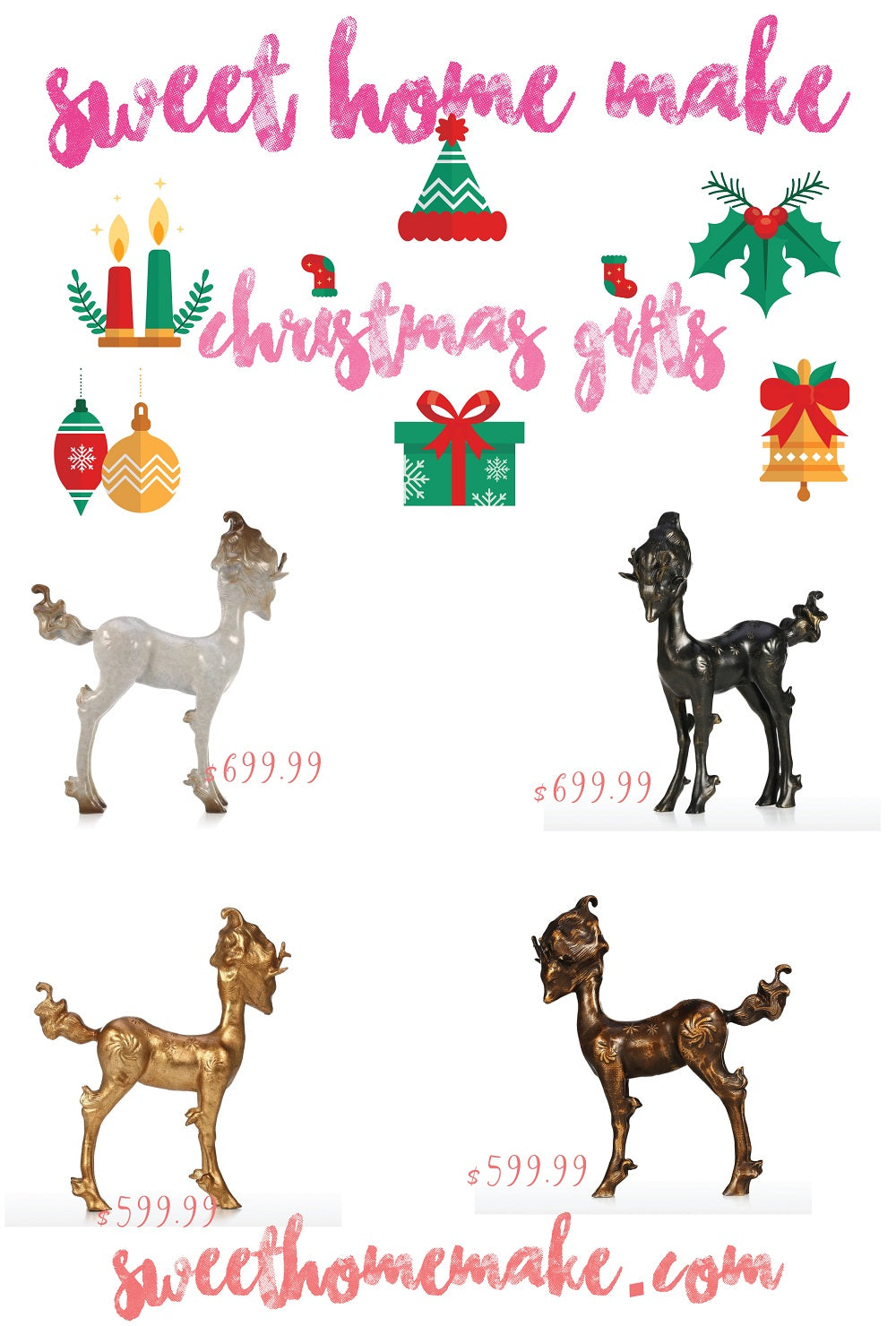 Christmas Decorations and Christmas Ornaments with Christmas Deer