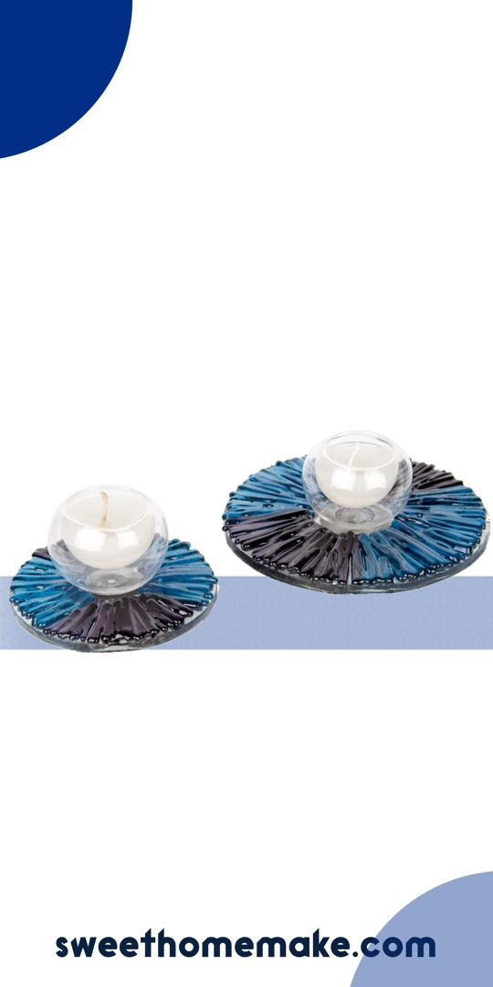 Colorful Glass Candle Holder For Bedroom Decor