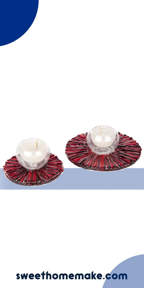 Colorful Glass Candle Holder For Living Room Decor