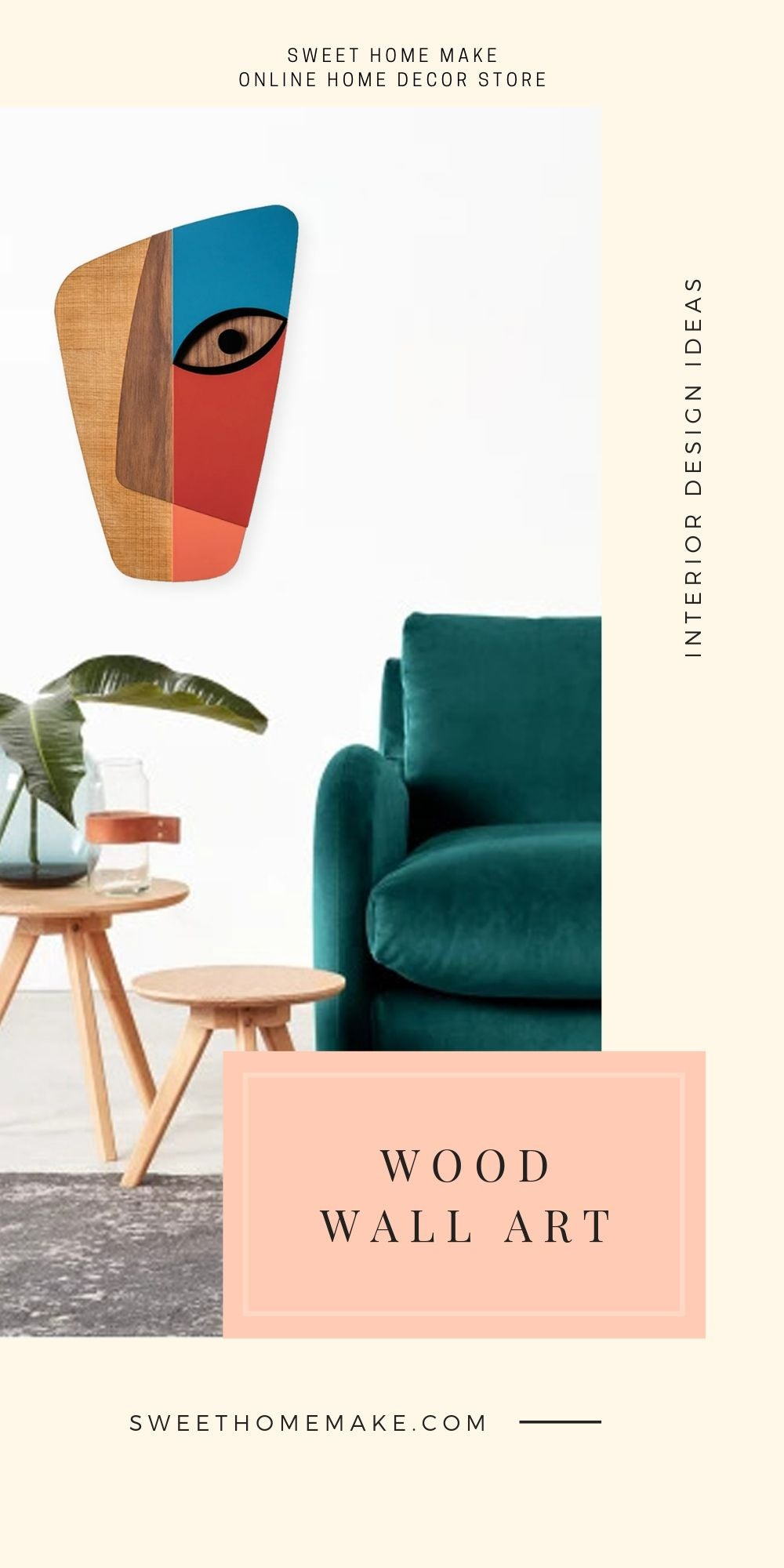 Colorful Wall Decor with Wood Wall Art