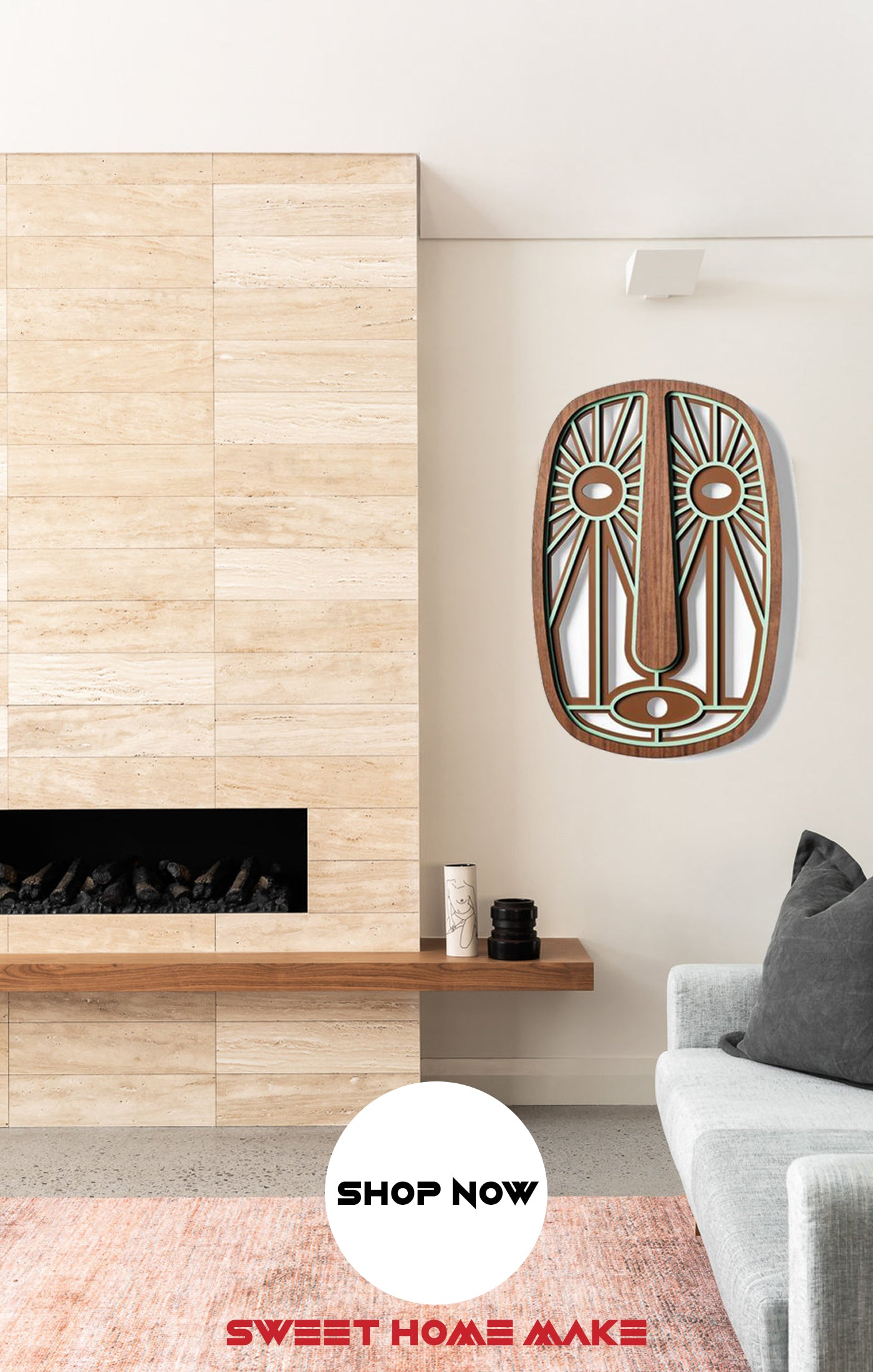 Contemporary and Modern Wood Wall Art at the Living Room Wall Decor