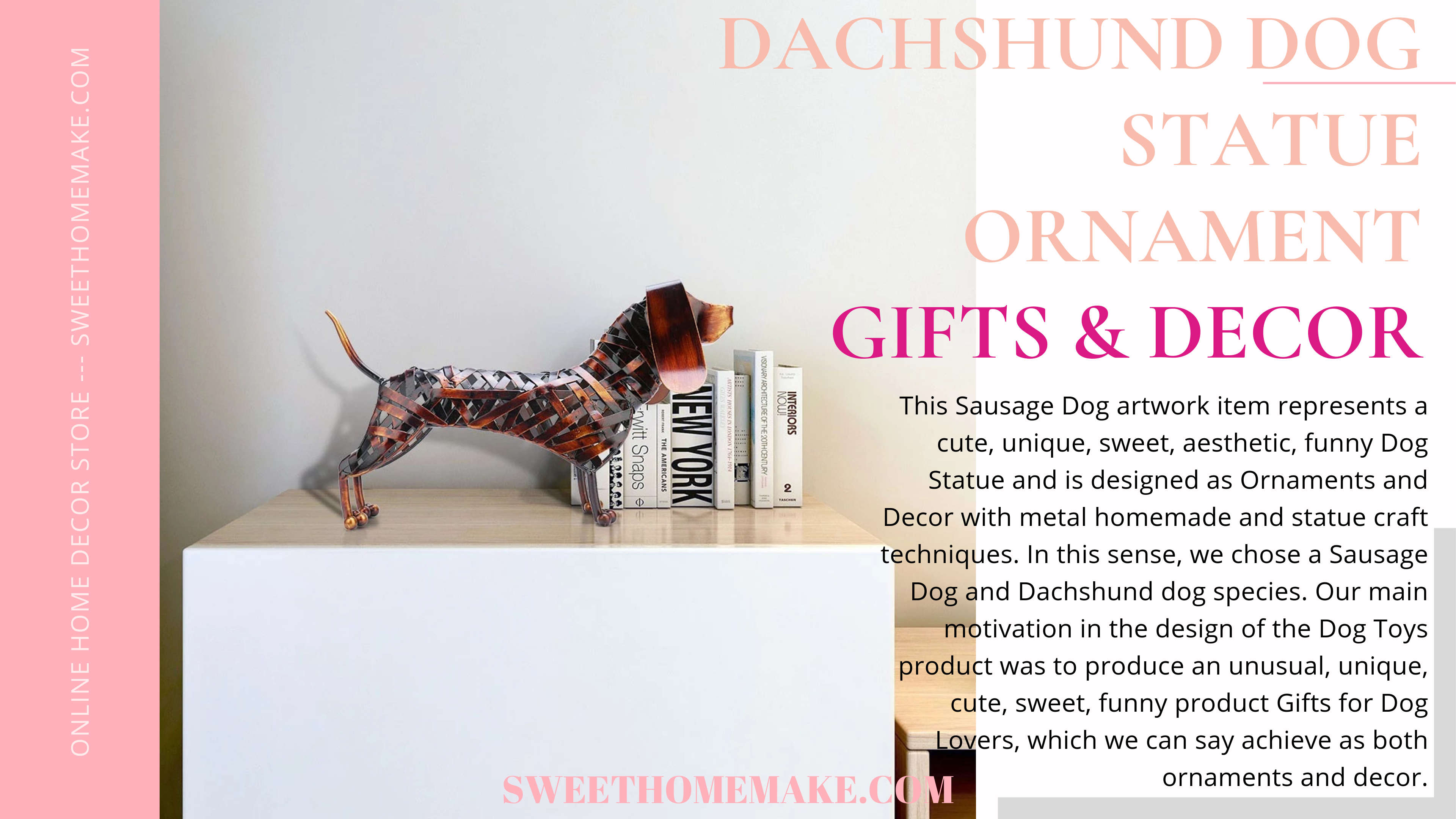 Dachshund Ornaments Decor on Dog Statue and Gifts For Dog Lovers