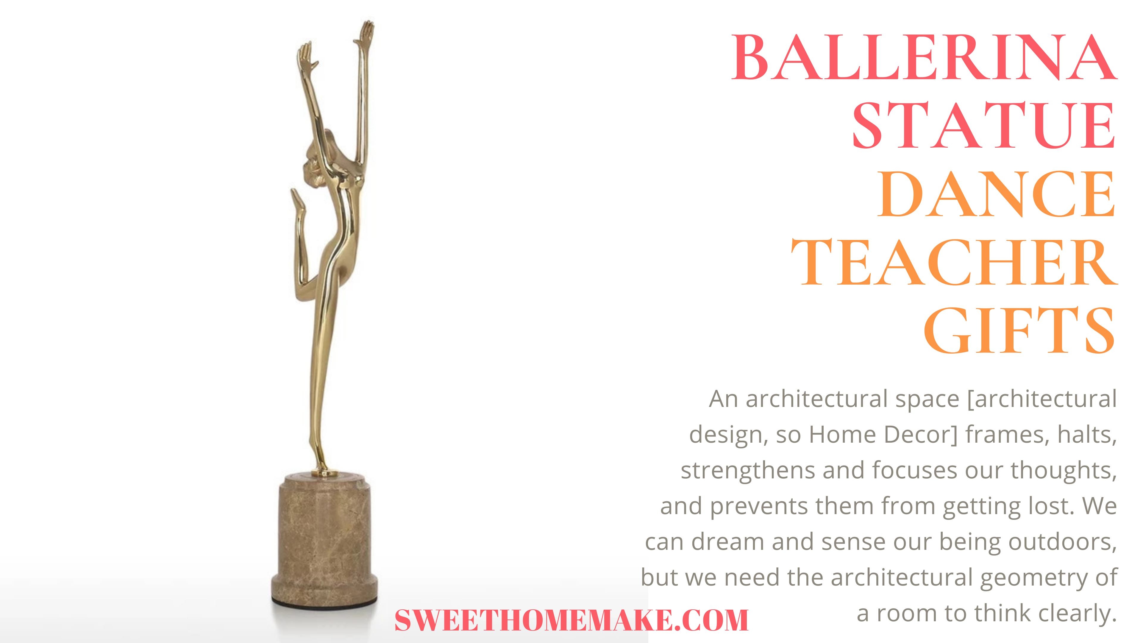 Dance Teacher Gifts Ballet-Ballerina Statue Ornaments Decor