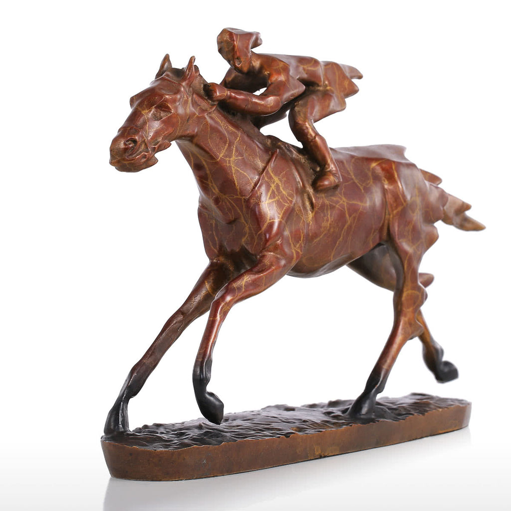 Decorative Horse Statue with Horse Racing