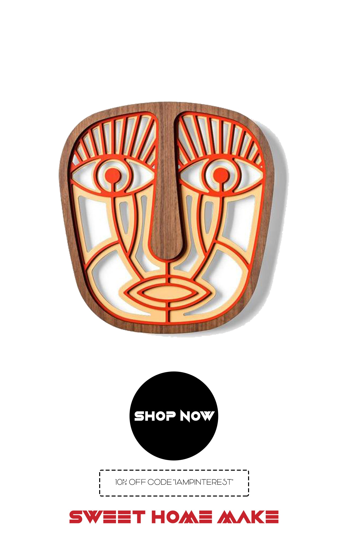Decorative Mask Wood Wall Art From Online Home Decor Store