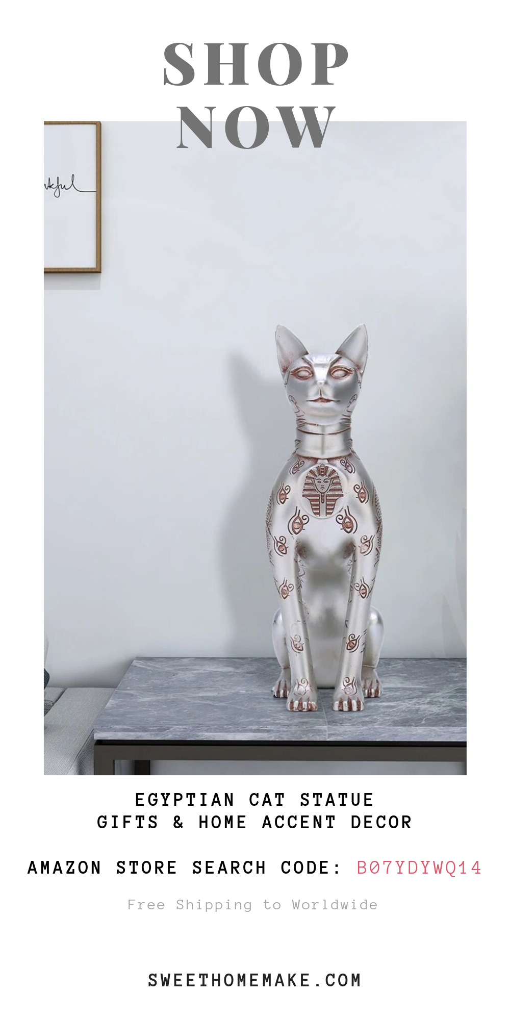 Egyptian Cat Statue For Cat Ornament and Gifts For Cat Lovers