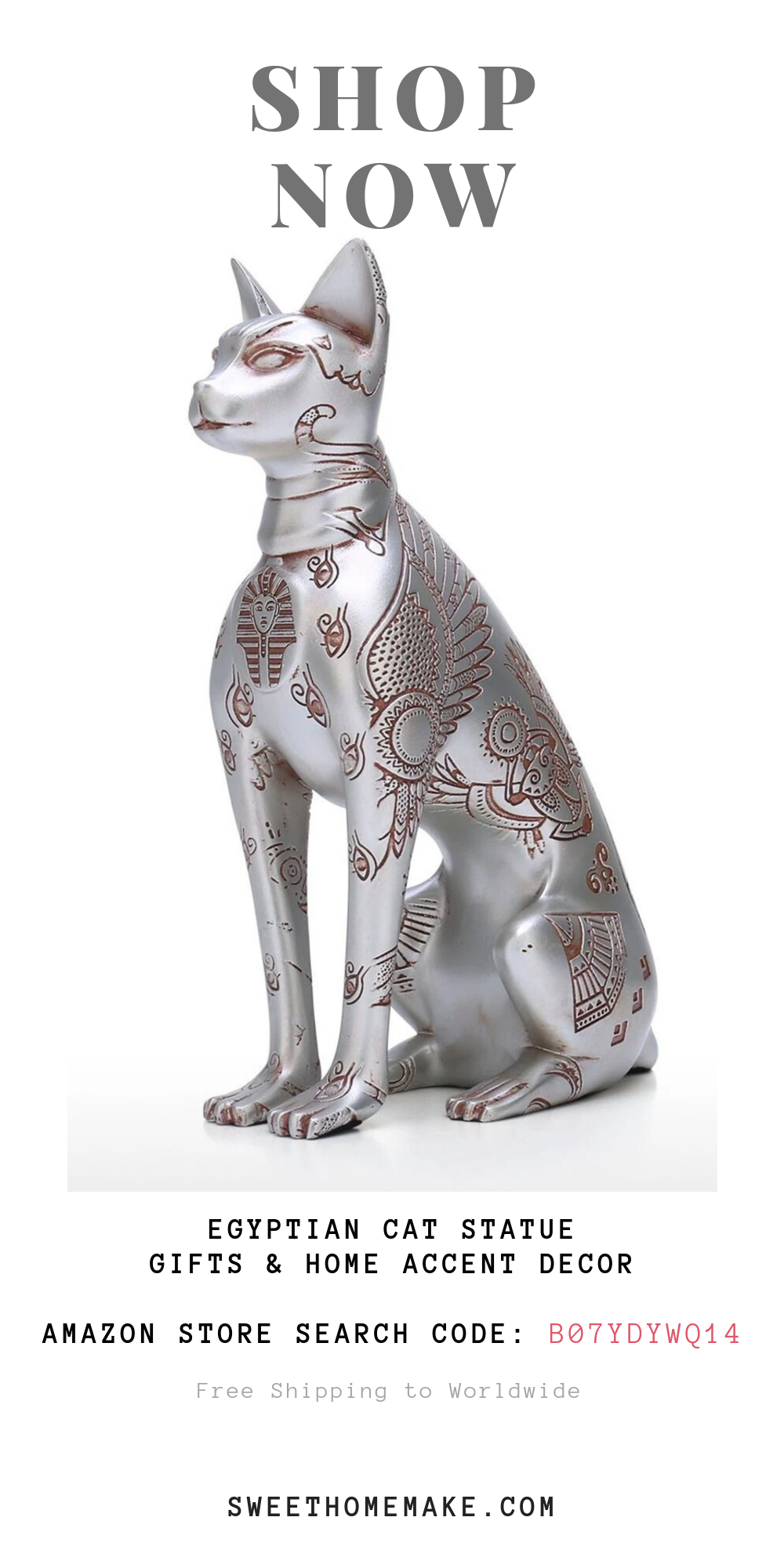 Egyptian Cat Statue For Cat Ornaments and Accent Decor