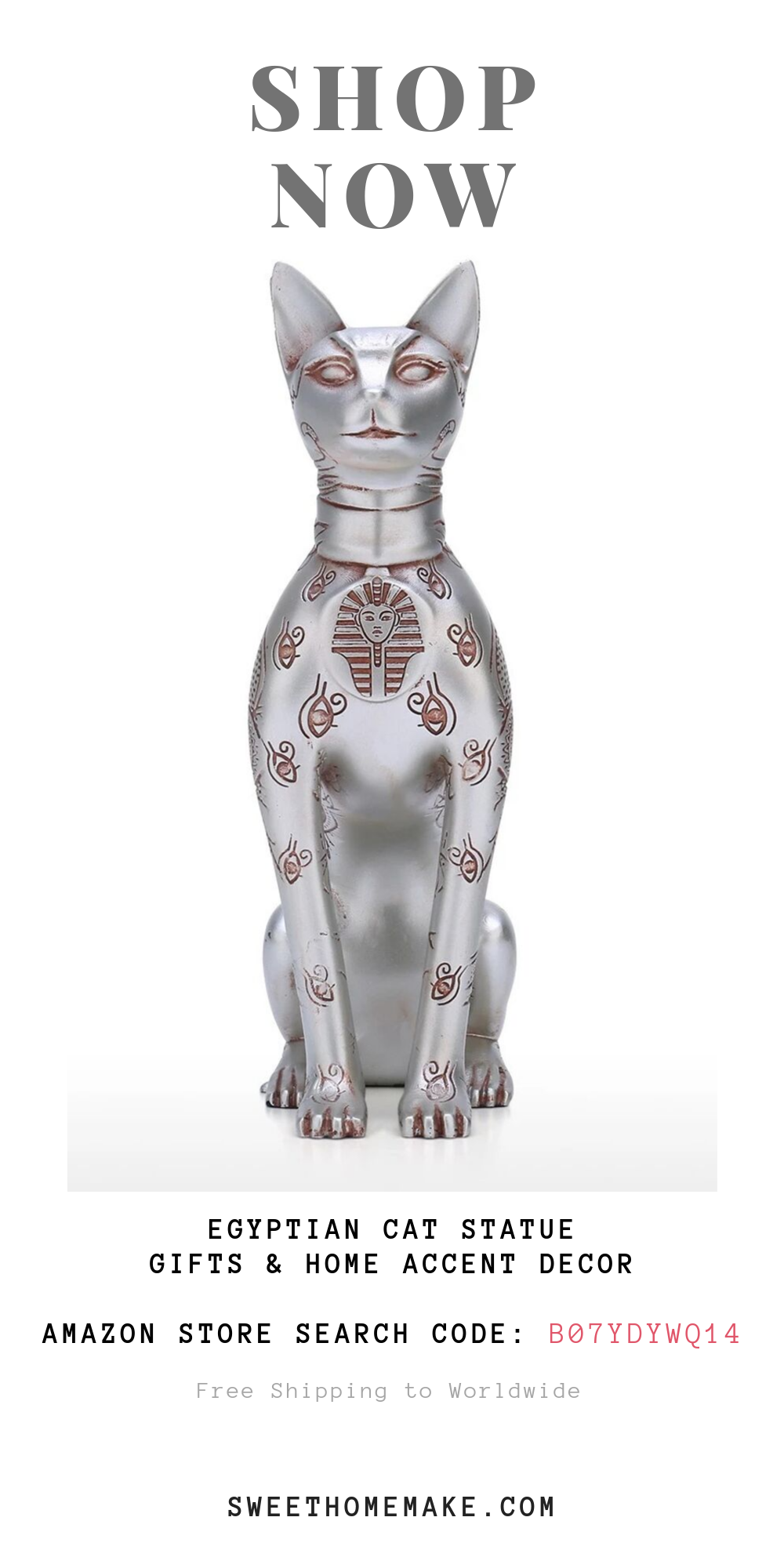 Egyptian Cat Statue by Gifts For Cat Lovers